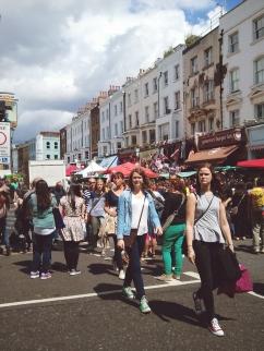 Portobello Road in full swing.
